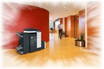 Büro mit develop Drucker